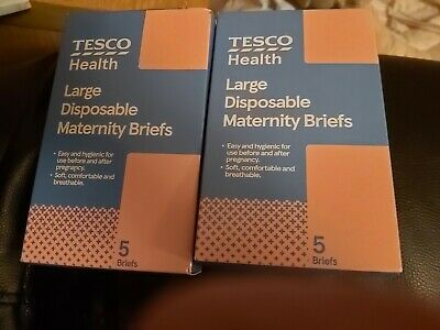 Tesco Large Disposable Maternity Briefs /underwear/ pants/knickers (New in box)
