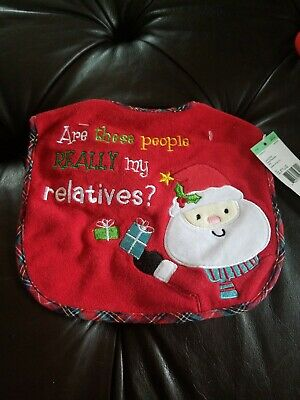 Christmas Baby Bib With Santa By Sears