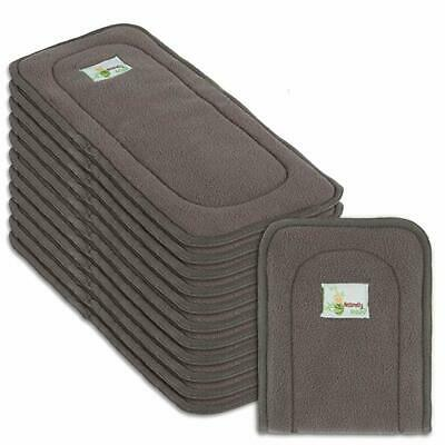 Naturally Natures Cloth Diaper Inserts 5 Layer Charcoal Bamboo Reusable Liners