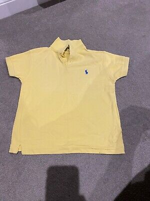Boys Ralph Lauren Polo Shirt, Age 5/6y, pale yellow, excellent condition