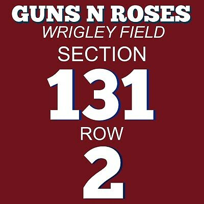 4 Great Tickets - Guns N' Roses Wrigley Field Chicago 7/26/20 2Nd Row