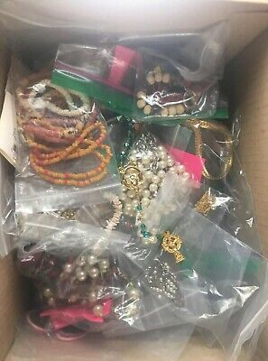 Big Lot Gemstones Freshwater Pearls Jewelry Shell Some Sterling Silver More