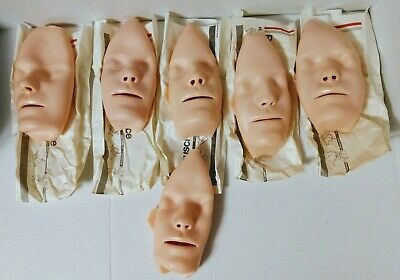 Lot of 6 Laerdal Resusci Replaceable CPR Adult Manikin Faces