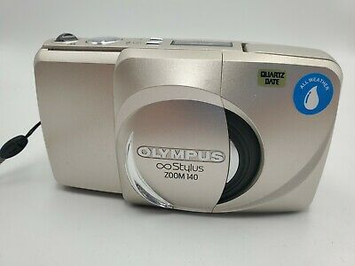 Olympus Stylus Zoom 140 Deluxe 35mm Point & Shoot Film Camera new battery