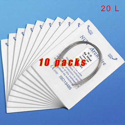 10 pack Dental Orthodontic Heat thermal Activated Niti Round Arch Wire 020 Lower