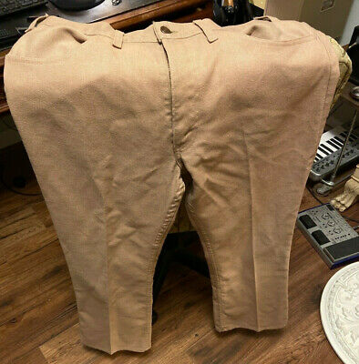 1960s STA-PREST LEVIS Beige Pants 34 X 30 Black Tab with gold lettering