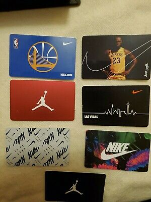 7 NIKE Gift Card No Value New