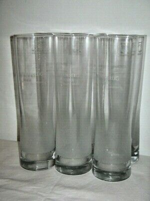Set of 6 Rekorderlig Cider Beautifully Swedish Tall 24cm Glasses Hotel Quality