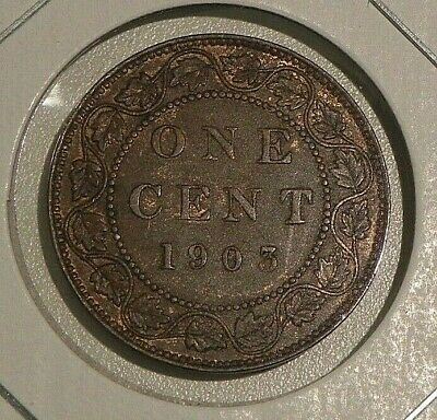 1903 Circulated Large Cent Canadian Canada Penny 1 One Cent Edward VII