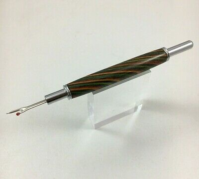 Hand Turned Wood Handle Seam Ripper Falling Leaves wood made in USA