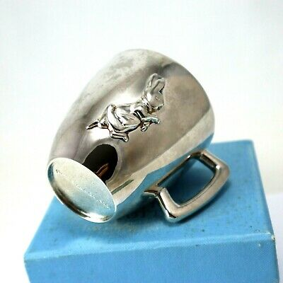 Peter Rabbit Sterling Silver Baby Mug by Beatrix Potter Childs Gift Cup Collect