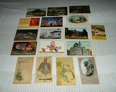 17 Antique/Vintage  Postcards Variety See Pictures!!!