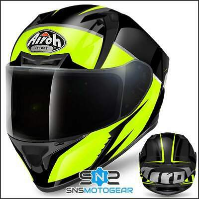Airoh Valor Full Face Motorcycle Motorbike ACU Sharp 5* Helmet - Eclipse Yellow