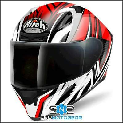 Airoh Valor Full Face Motorcycle Motorbike ACU Sharp 5* Helmet - Conquer Red