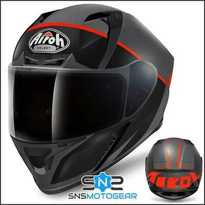 Airoh Valor Full Face Motorcycle Motorbike ACU Sharp 5* Helmet - Eclipse Orange