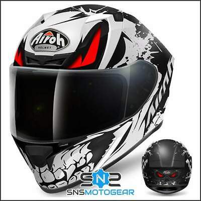 Airoh Valor Full Face Motorcycle Motorbike ACU Sharp 5* Helmet - Bone Matt