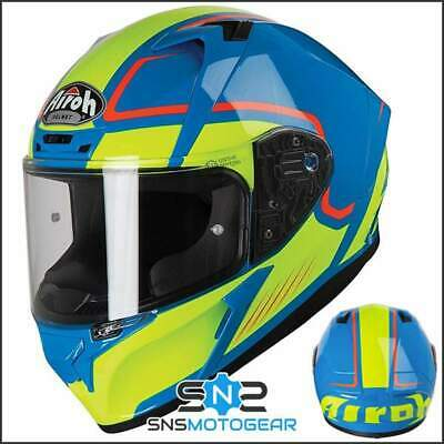 Airoh Valor Full Face Motorcycle Motorbike ACU Sharp 5* Helmet - Marshall Azure