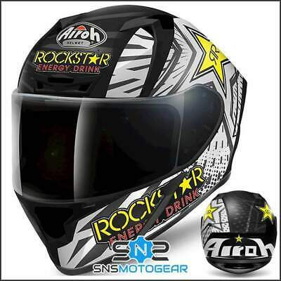 Airoh Valor Full Face Motorcycle Motorbike ACU Sharp 5* Helmet - Rockstar Matt