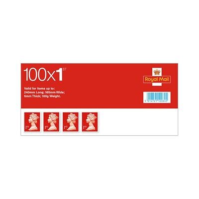 Royal Mail First Class Stamps X100 Sheet