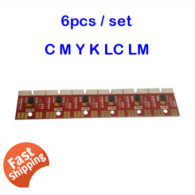 6 Colors CMYKLCLM Permanent Chip For Mimaki JV300 / JV150 SS21 Cartridge New