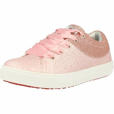 Tommy Hilfiger Trainer Rose Gold Leather Child Trainers Shoes
