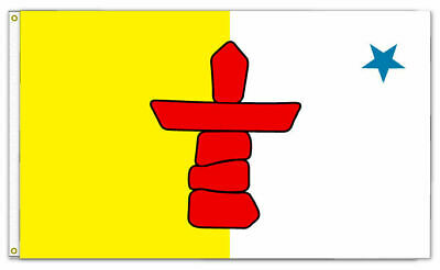 Nunavut Native Banner/Flag 100% Polyester Premium With Metal Grommets