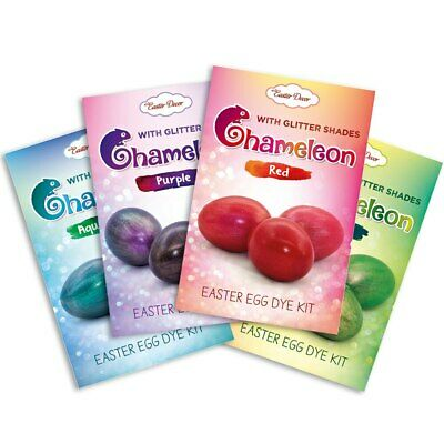 SET of 4 Kits, Chameleons, Easter Egg Dye Kits With Glitter Shades