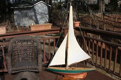 Sail Boat Pond boat  very large  with battery compartment
