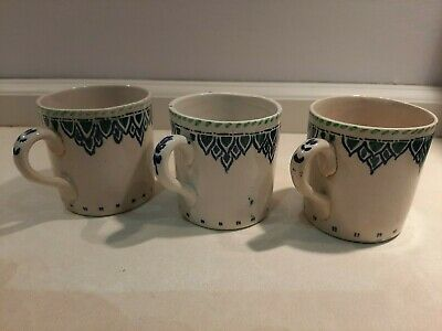 Vintage Scottish Pottery cups, Glasgow School type, Arts and Crafts