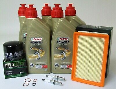 BMW R 1200 GS/R/RS/RT LC Service Kit Castrol 5W-40 + Luft/Ölfilter + NGK