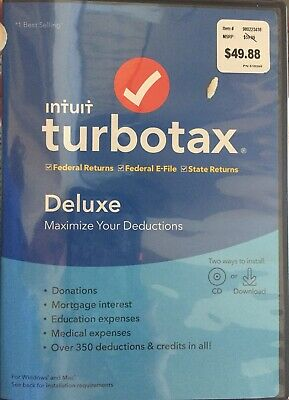 turbotax deluxe 2019 federal state