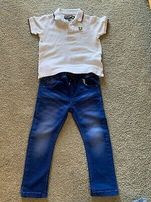 Boys Lyle And Scott Polo Shirt And Next Jeans Age 2-3 Years Lovely Outfit