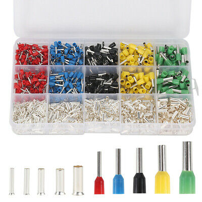 1640Pcs Copper Silver Plated Terminal Combination Set Cold Pressed Terminals ER