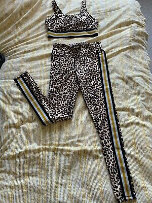 Kyodan Leopard Print Leggings And Matching Crop Top