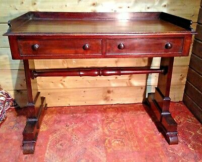 Antique William IV Mahogany Writing Table / Antique Hall Table