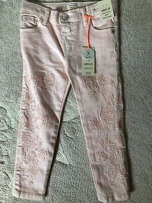 Brand New With Tags: River Island Mini Baby Girls Pink Skinny Jeans 2-3 Years
