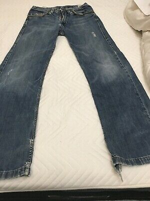 diesal jeans Boys Aged 12 Year Old Blue Rips At The Bottom Of the Leg