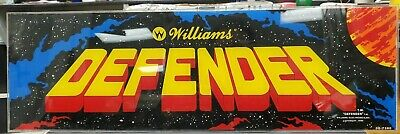 Williams Defender Arcade game Marquee 1980 Vintage original sign