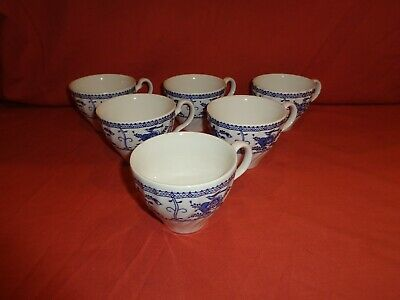 Johnson Brothers Blue & White Indies Spare Cup x 6