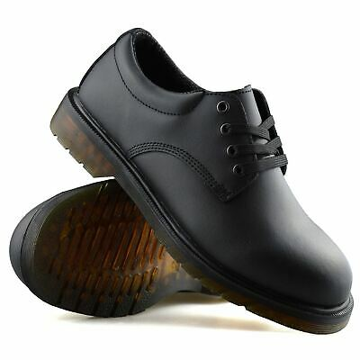 Mens Leather Wide Fit Airsole Smart Casual Lace Up Formal Work Office Shoes Size