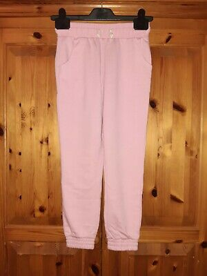 Girls pink comfy Ankle cuff jogging/Tracksuit bottoms age 8 yrs Matalan VGC