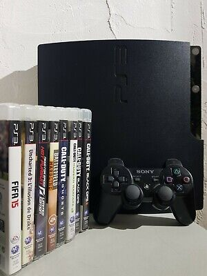 Sony PlayStation 3 Slim 160 Go Noire + 12 jeux + 1 manette