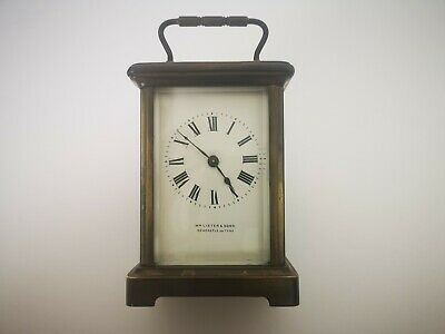 19th Century Carriage Clock Wm Lister & Sons Spares Or Repairs