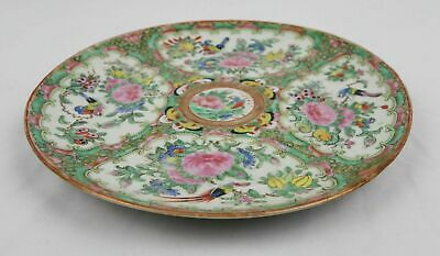 Antique Old Chinese Famille Rose Birds People Butterfly Porcelain Charger Plate