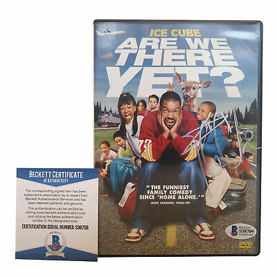 Ice Cube Signed Autographed Are We There Yet DVD Case NWA Rap Beckett BAS Cert