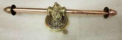 Double Old French Antique Vintage Copper & Brass toilet roll holder c1930 WOW!