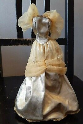 Vintage  Barbie Hand Made Party Prom Dress Ball Gown Belle Beauty  and the Beast