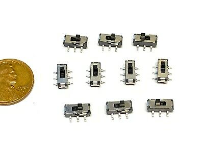 5x   Micro Miniature PCB Slide Switch SLIDE SWITCH SWITCHES PCB Tactile b19
