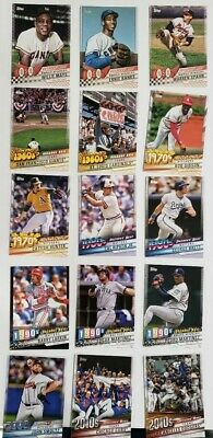 2020 Topps Series 1 Decades' Best 1950,1960,1970,1980,1990,2000,2010 You Pick