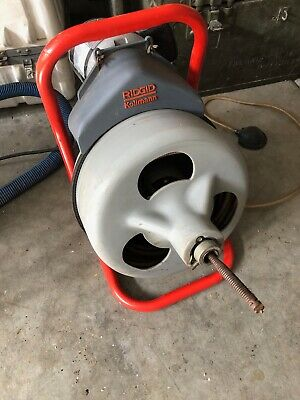 RIDGID K-375 DRAIN CLEANING MACHINE  with NEW FOOT PEDAL